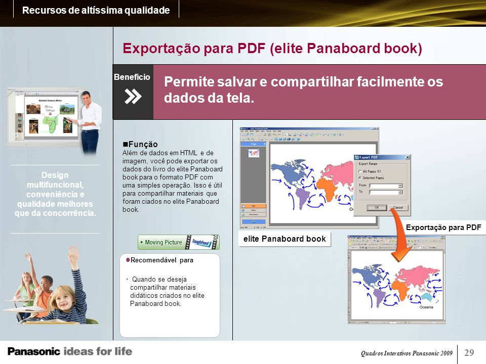 Exportação para PDF (elite Panaboard book)