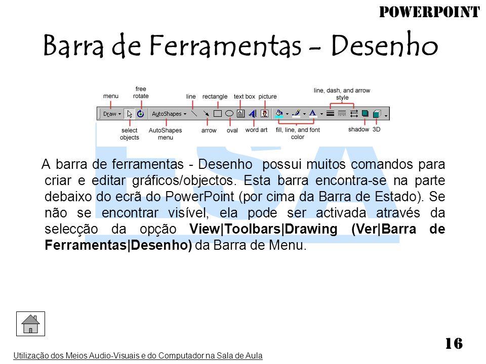 Barra de Ferramentas - Desenho