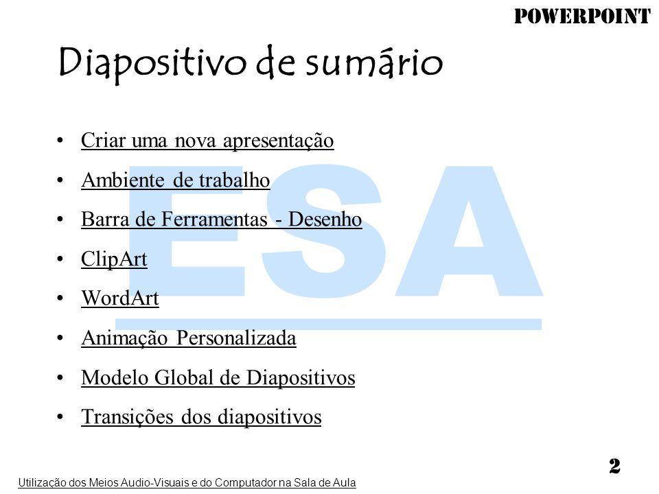 Diapositivo de sumário