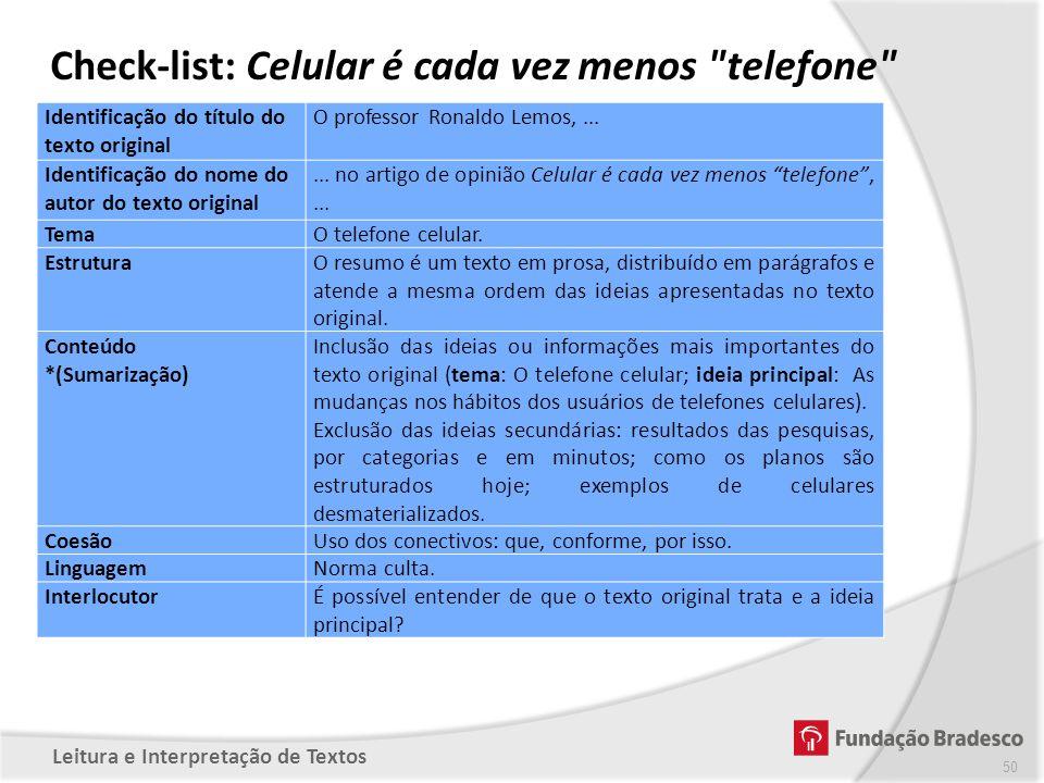 Check-list: Celular é cada vez menos telefone