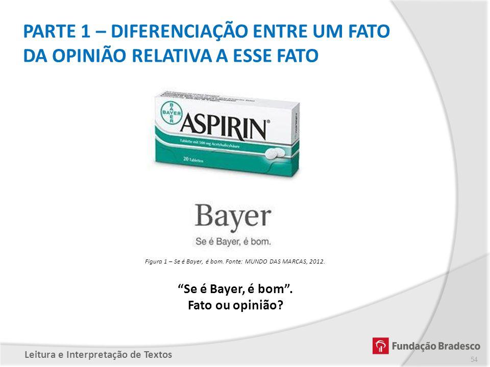 Figura 1 – Se é Bayer, é bom. Fonte: MUNDO DAS MARCAS, 2012.