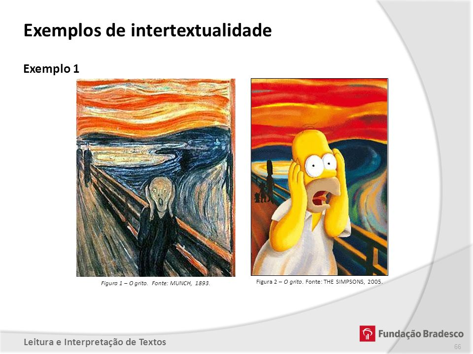 Exemplos de intertextualidade