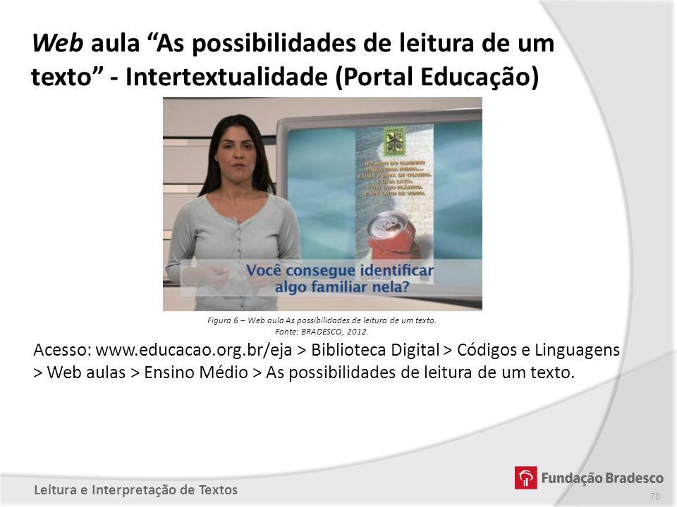 Figura 6 – Web aula As possibilidades de leitura de um texto.