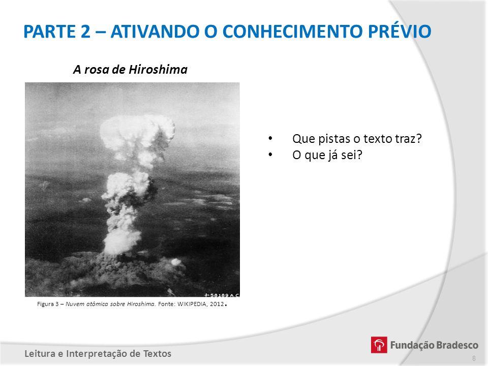 Figura 3 – Nuvem atômica sobre Hiroshima. Fonte: WIKIPEDIA, 2012.