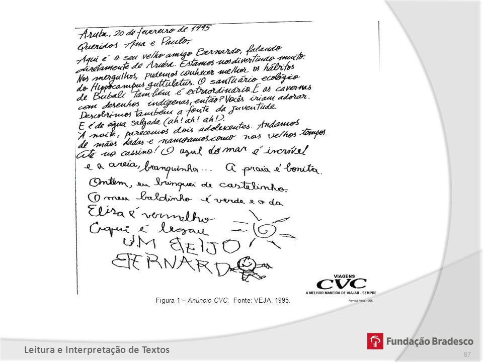 Figura 1 – Anúncio CVC. Fonte: VEJA, 1995.