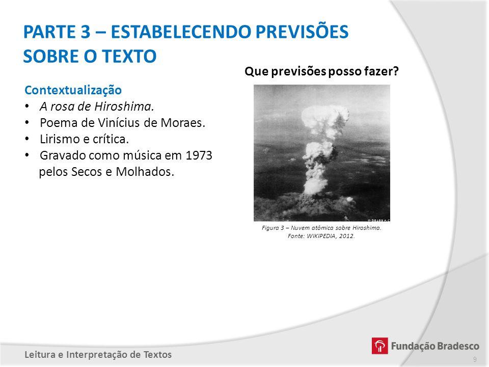 Figura 3 – Nuvem atômica sobre Hiroshima.