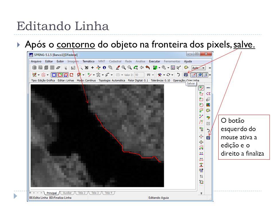Editando Linha Após o contorno do objeto na fronteira dos pixels, salve.