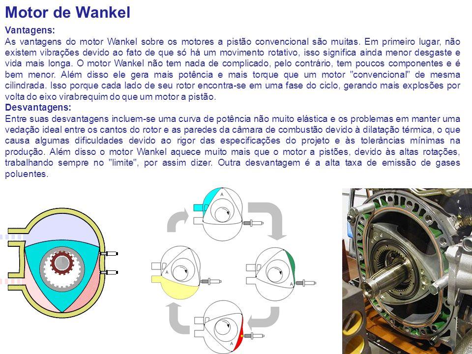 Motor de Wankel Vantagens: