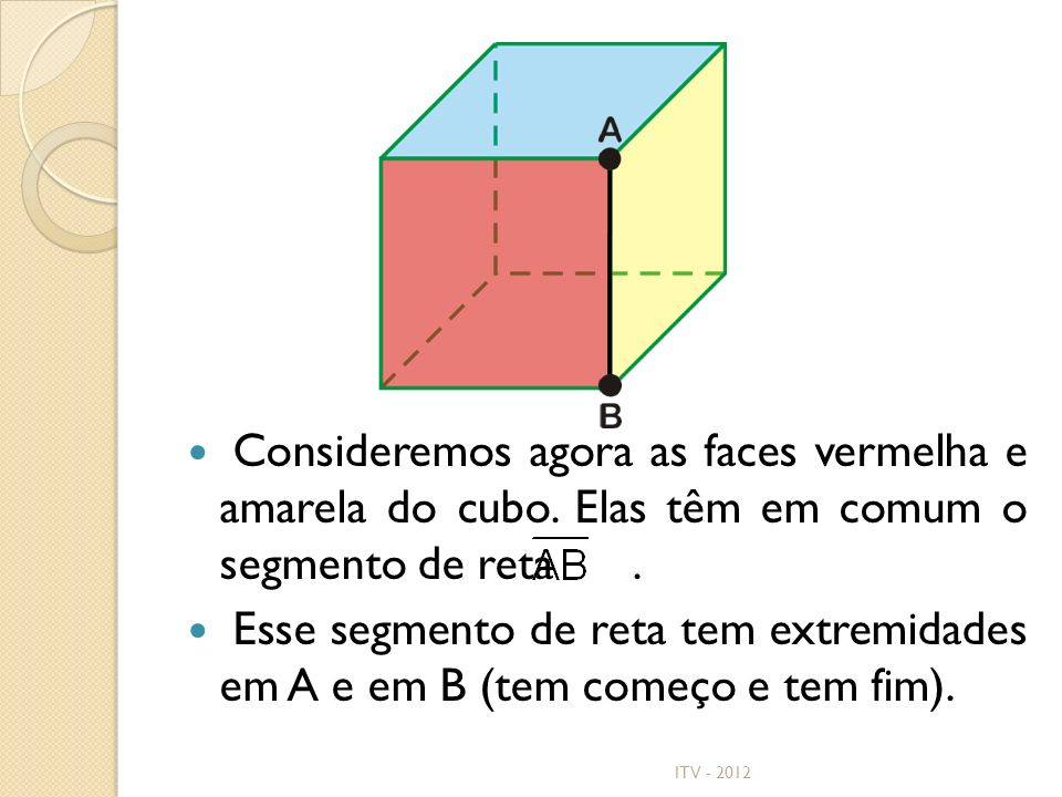 Consideremos agora as faces vermelha e amarela do cubo