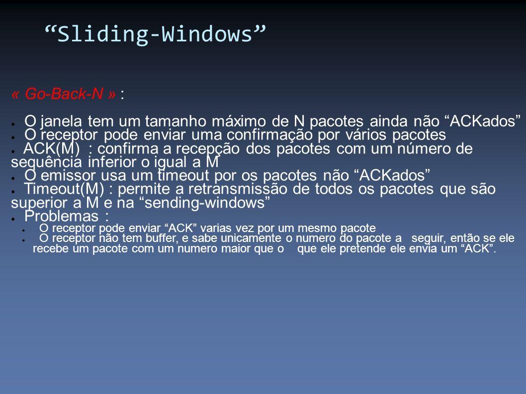 Sliding-Windows « Go-Back-N » :