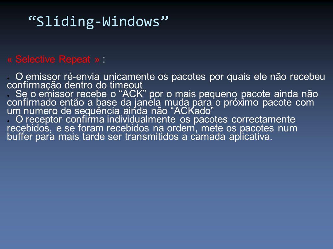 Sliding-Windows « Selective Repeat » :