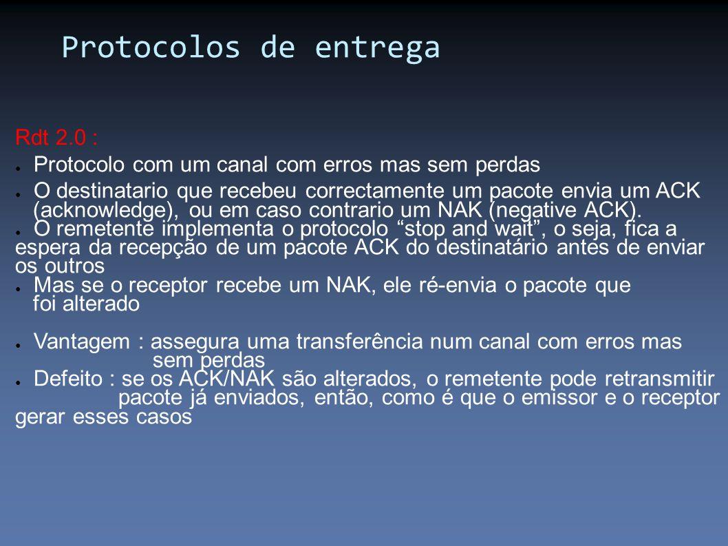 Protocolos de entrega Rdt 2.0 :