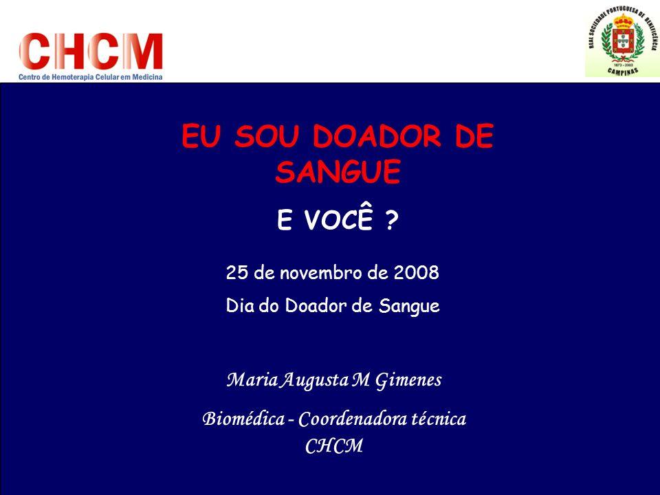 Maria Augusta M Gimenes Biomédica - Coordenadora técnica CHCM