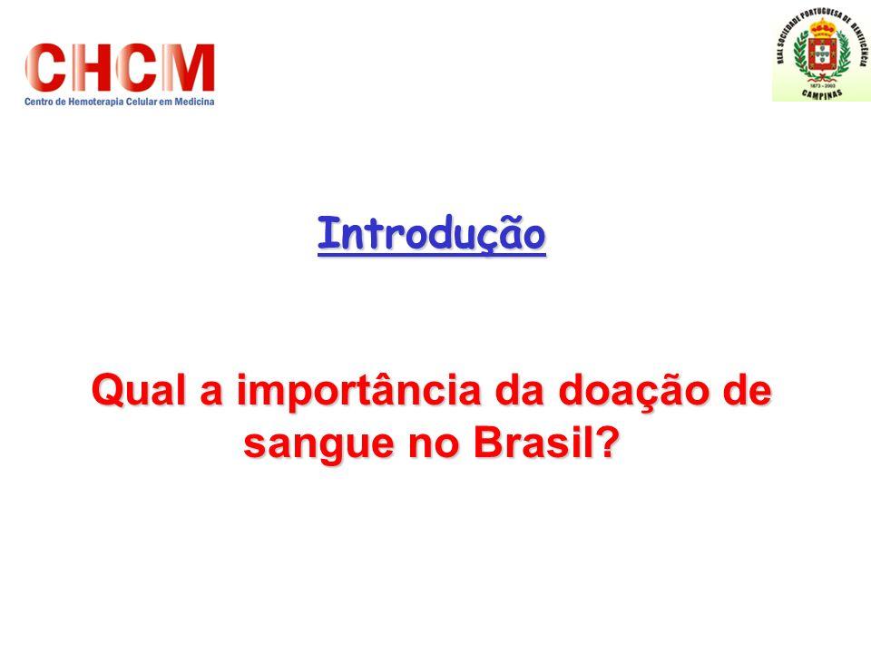 Qual a importância da doação de sangue no Brasil
