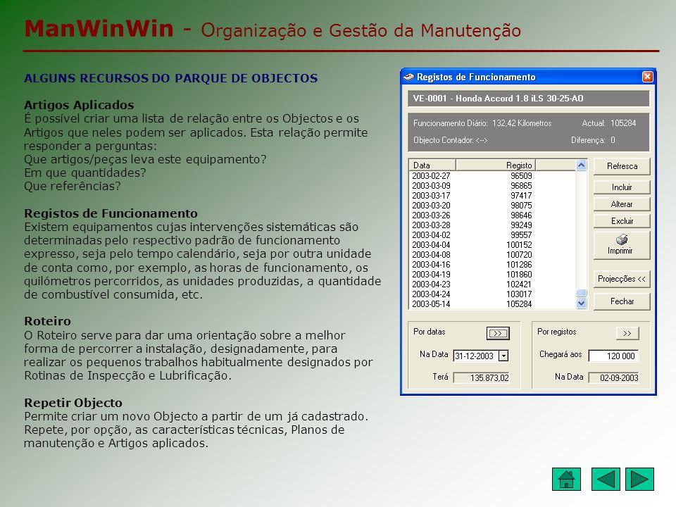 ManWinWin - Organização e Gestão da Manutenção