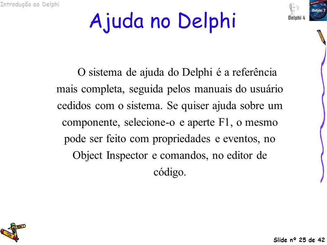 Ajuda no Delphi