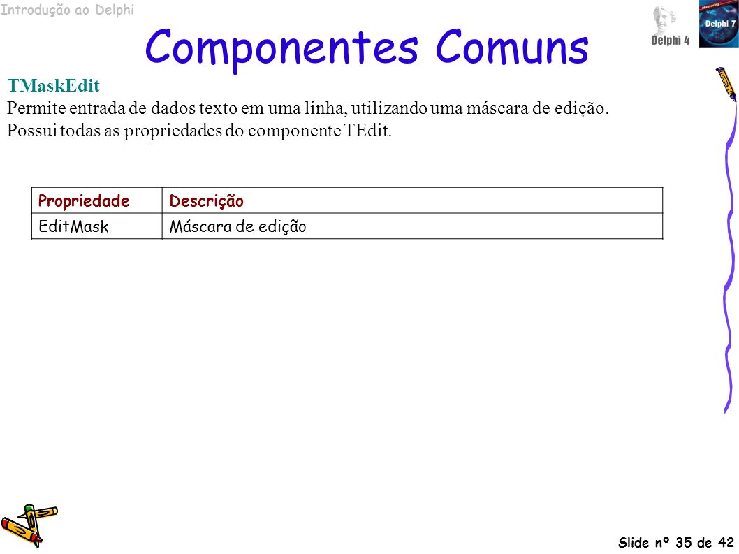 Componentes Comuns TMaskEdit