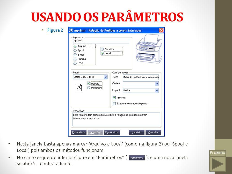 USANDO OS PARÂMETROS Figura 2.