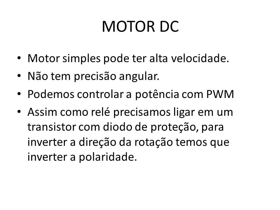 MOTOR DC Motor simples pode ter alta velocidade.