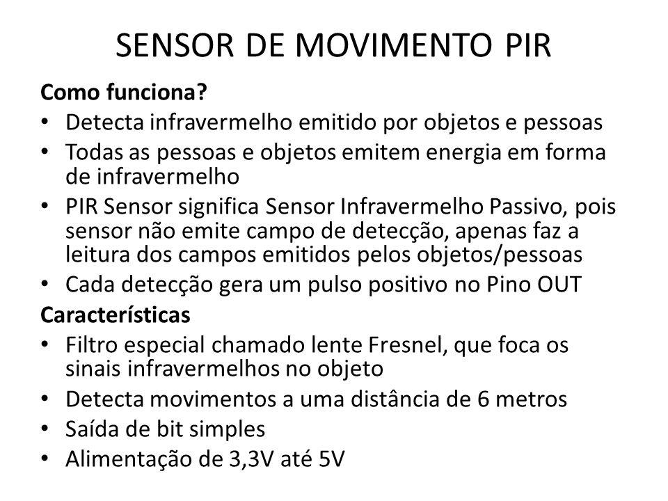 SENSOR DE MOVIMENTO PIR