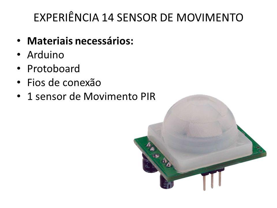 EXPERIÊNCIA 14 SENSOR DE MOVIMENTO