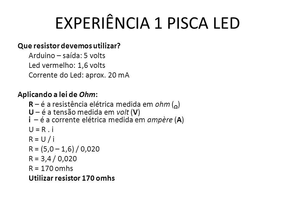 EXPERIÊNCIA 1 PISCA LED