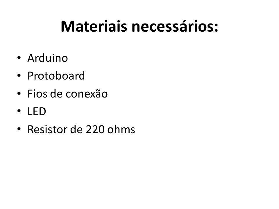 Materiais necessários: