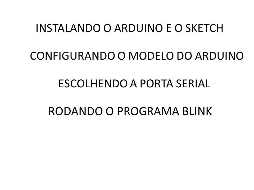 RODANDO O PROGRAMA BLINK