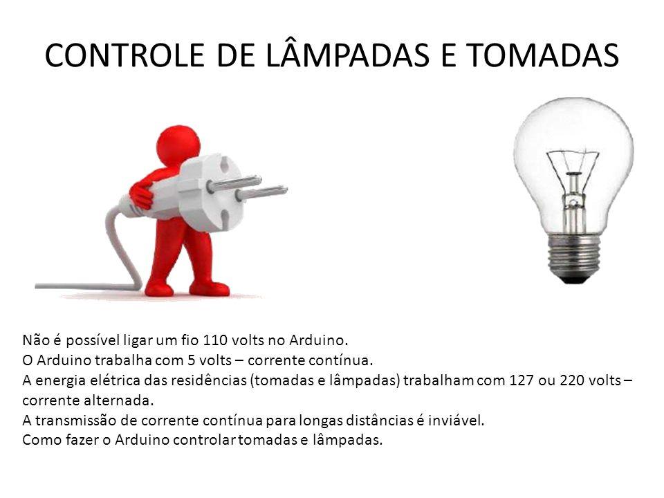 CONTROLE DE LÂMPADAS E TOMADAS