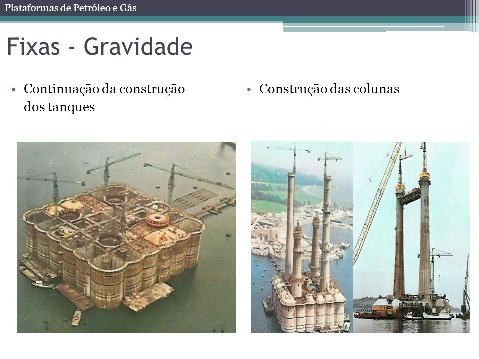 Fixas - Gravidade Continuação da construção dos tanques