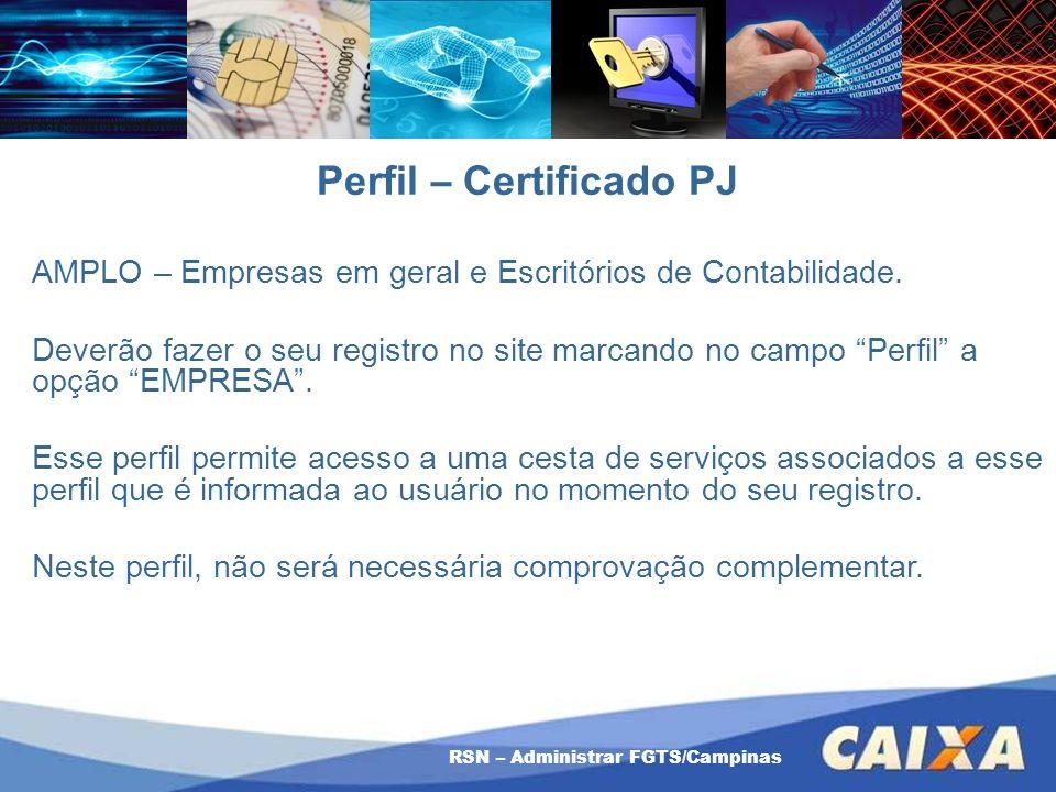 Perfil – Certificado PJ
