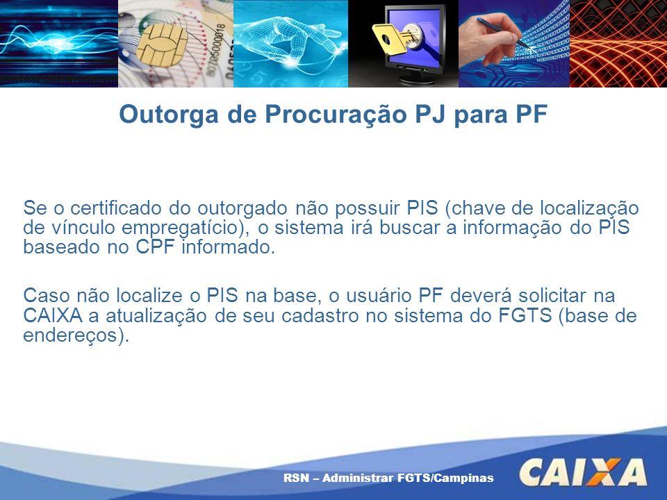 Outorga de Procuração PJ para PF