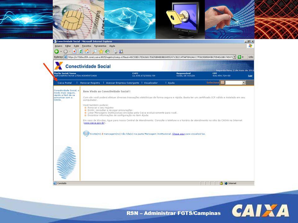 Como usar a Procuração RSN – Administrar FGTS/Campinas