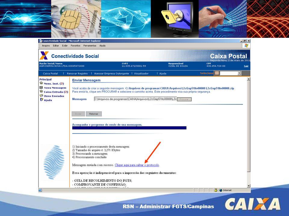 RSN – Administrar FGTS/Campinas