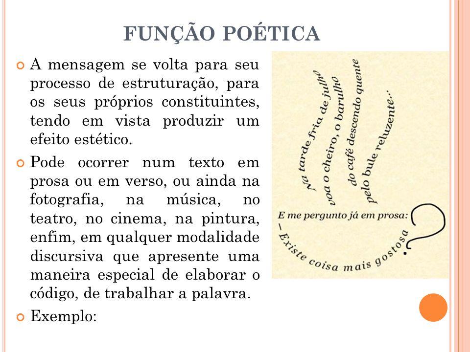 FUNÇÃO POÉTICA