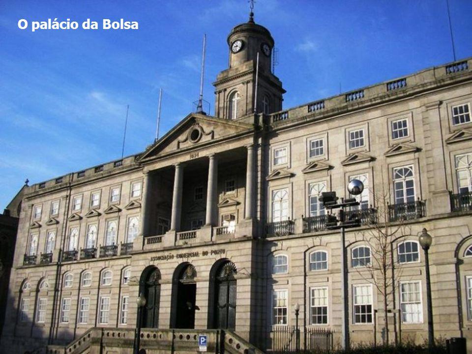 O palácio da Bolsa