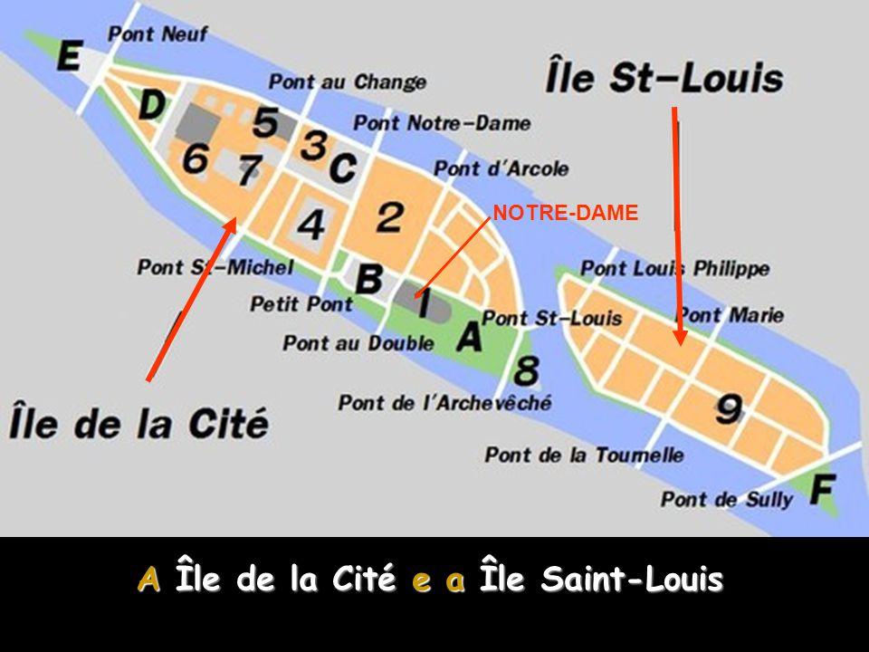 A Île de la Cité e a Île Saint-Louis