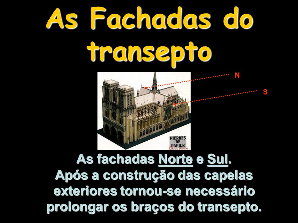 As Fachadas do transepto
