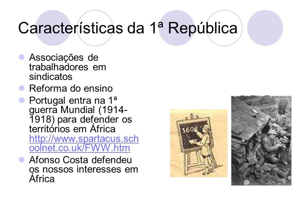 Características da 1ª República