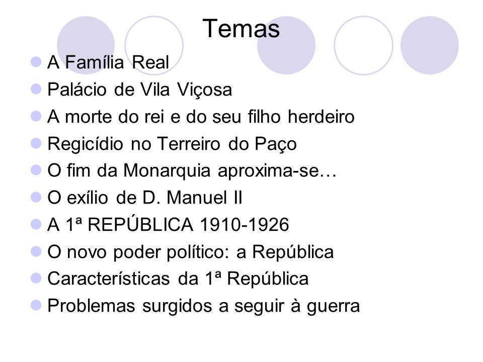 Temas A Família Real Palácio de Vila Viçosa