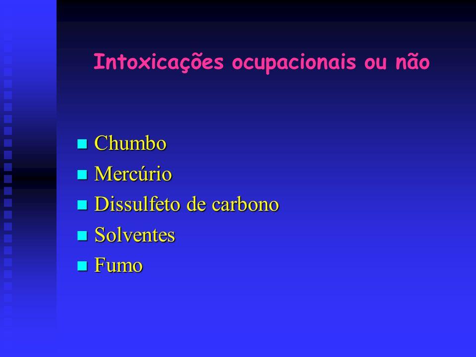 Intoxicações ocupacionais ou não