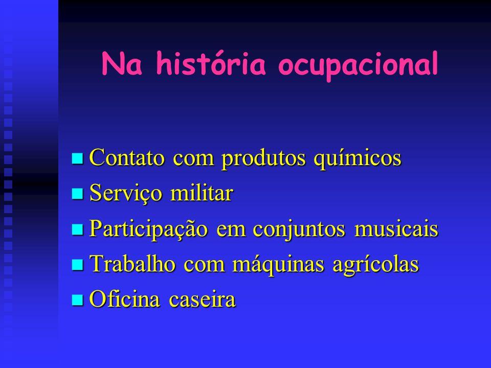 Na história ocupacional