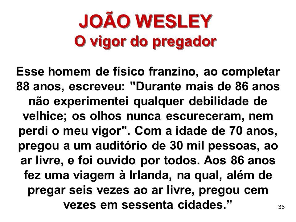 JOÃO WESLEY O vigor do pregador