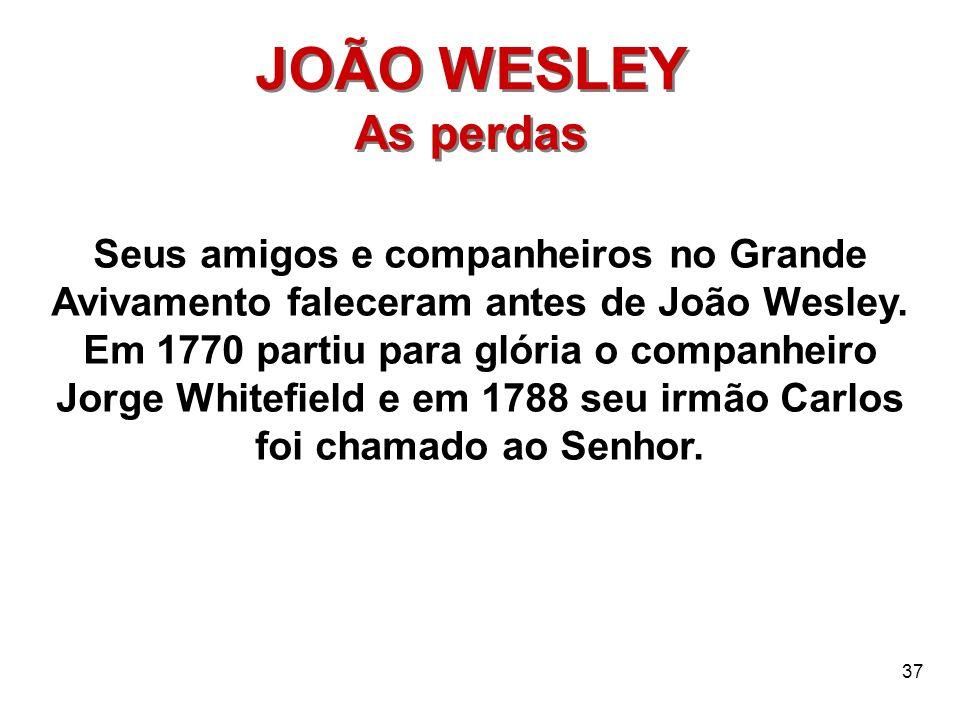 JOÃO WESLEY As perdas.