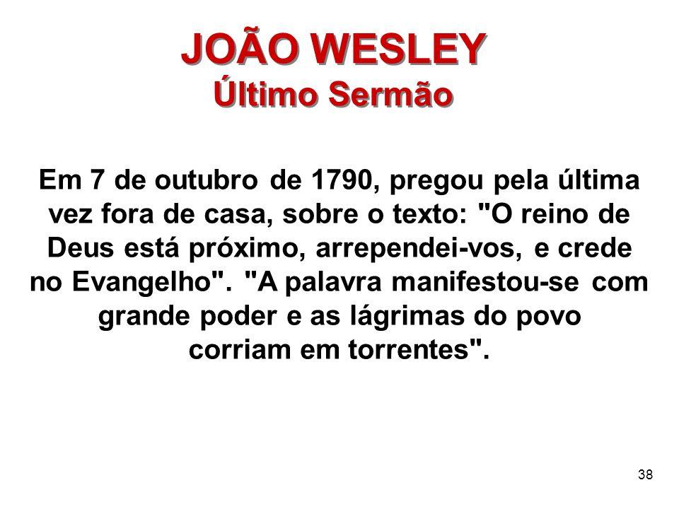 JOÃO WESLEY Último Sermão