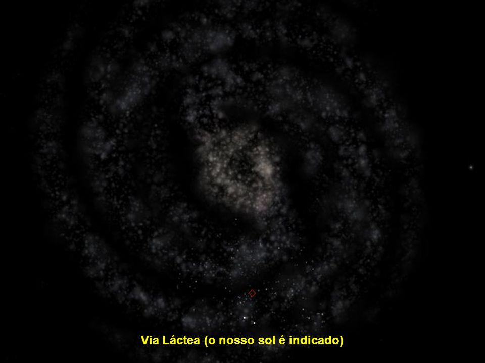 Via Láctea (o nosso sol é indicado)
