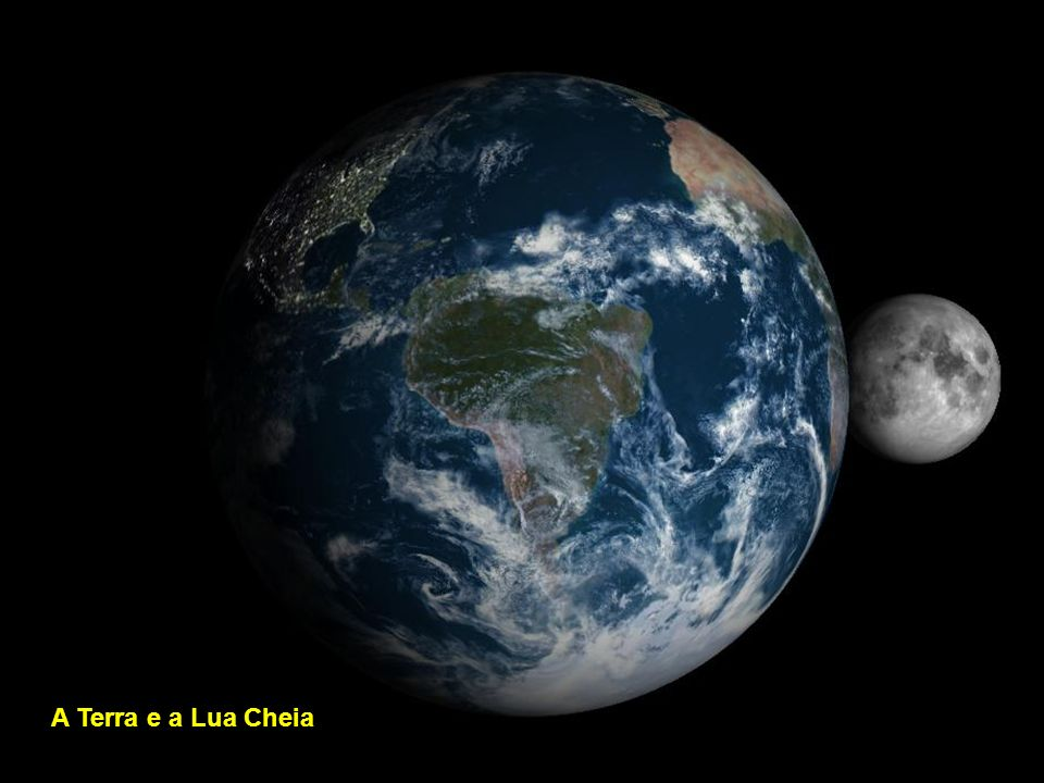 A Terra e a Lua Cheia