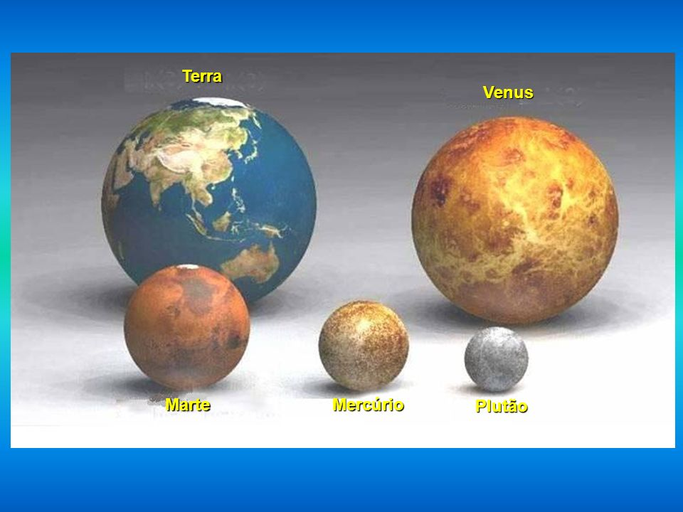 Terra Venus Marte Mercúrio Plutão