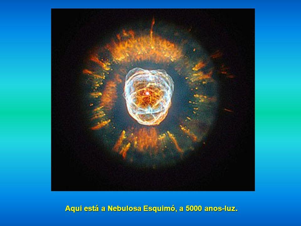Aqui está a Nebulosa Esquimó, a 5000 anos-luz.