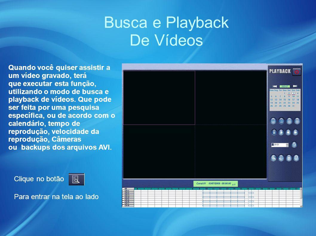 Busca e Playback De Vídeos